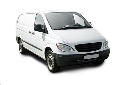 White van isolated over white