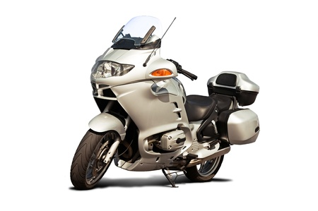 моторизованный: Isolated motorcycle front view on a white background