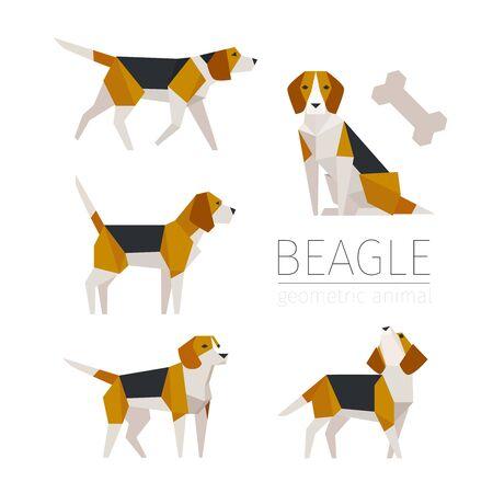 Cute beagle sculpture concept character design. flat design style minimal vector illustration.