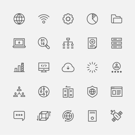 Broadcast internet network icon. flat design style minimal vector illustration. 스톡 콘텐츠 - 131899029