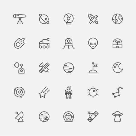 Space science simple line icon.
