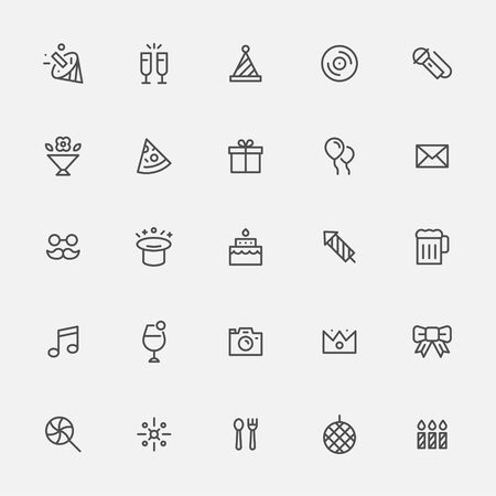 Party goods icon in line style.