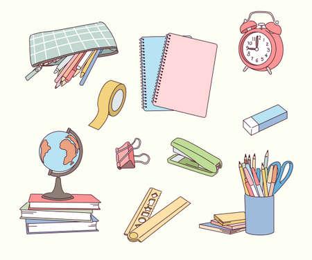 Various school supplies.
