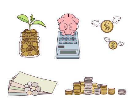 Illustration about money.