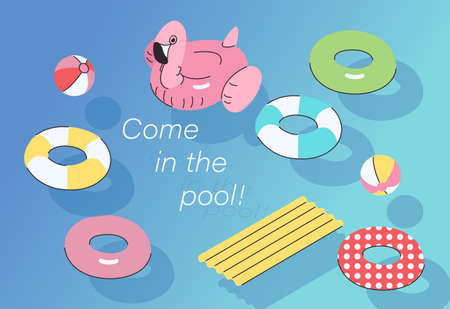 Summer water games. hand drawn style vector design illustrations.
