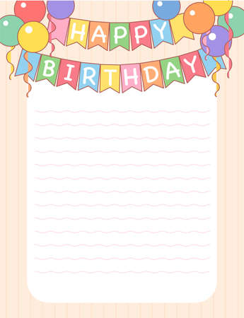 Birthday letter. hand drawn style vector design illustrations. 스톡 콘텐츠 - 167010637