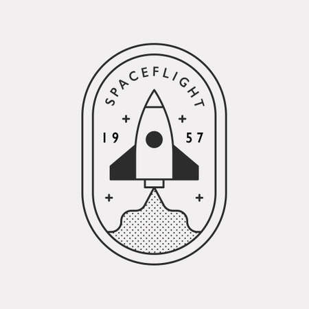 Rocket being launched. Black color hipster design illustration icon. 스톡 콘텐츠 - 167985932