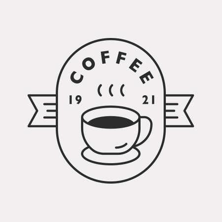 Coffee shop. Black color hipster design.