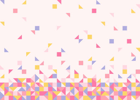 Squares and triangular pieces are gradually piled up underneath. Simple pattern design template. 일러스트