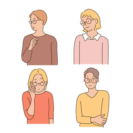 People with glasses.