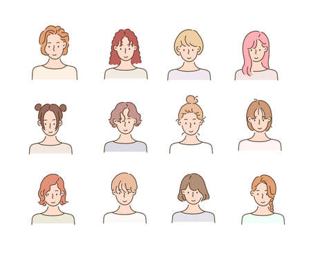 Different types of hairstyles for women.