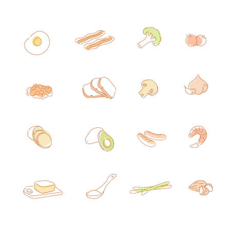 Various cooking ingredients. hand drawn style vector design illustrations.