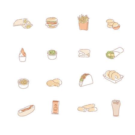 Family restaurant menus. hand drawn style vector design illustrations. 일러스트
