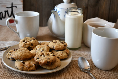 time for coffee and cookies 写真素材