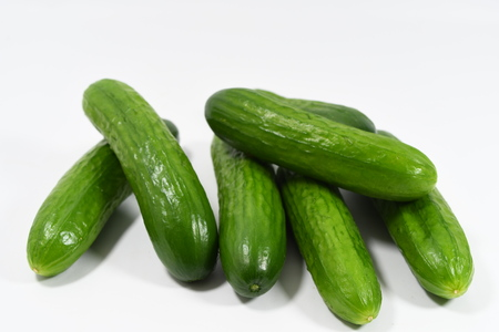 cucumber on the white background