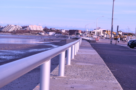 The walk way to Nantasket beach Imagens
