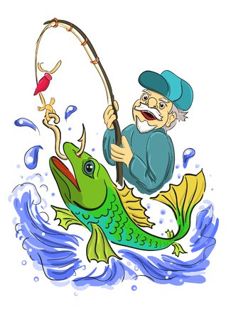 fisher man: The old fisherman caught big fish