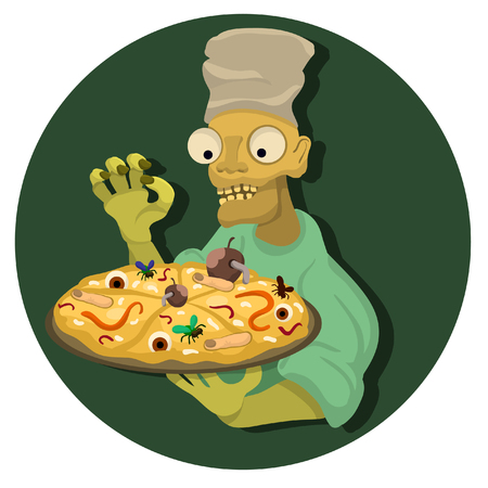 lovely living corpse made pizza and nasties Illustration