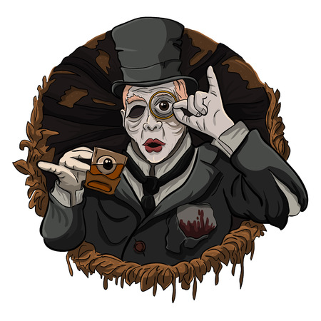 sophistication: English aristocrat zombies drinking tea Illustration