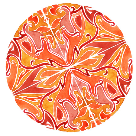 exotic flowers: ornaments interlacing lines and exotic flowers