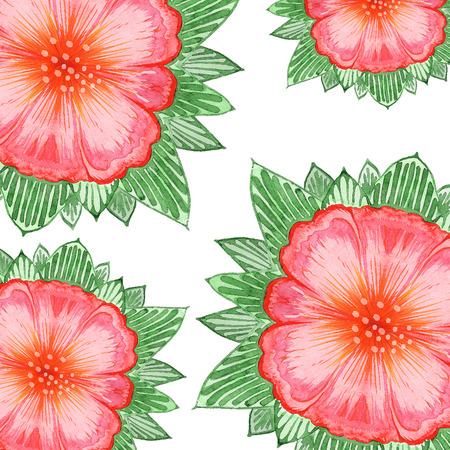 interlacing: ornaments interlacing lines and exotic flowers