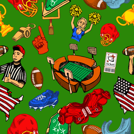 collected from the character drawing on American football