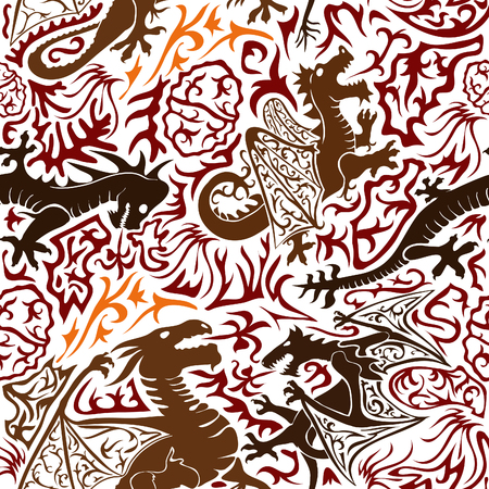 draconian background painted by hand