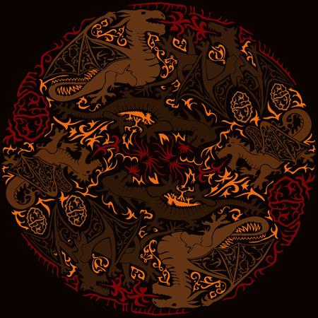 손으로 그린 엄격한 배경 스톡 콘텐츠 - 70187896