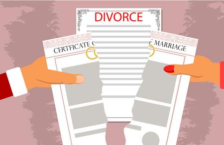 Echtscheiding documenten afbreken van de relaties. Stockfoto - 72166077