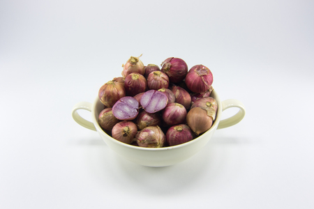 shallot: thai shallot in the white ceramic cup