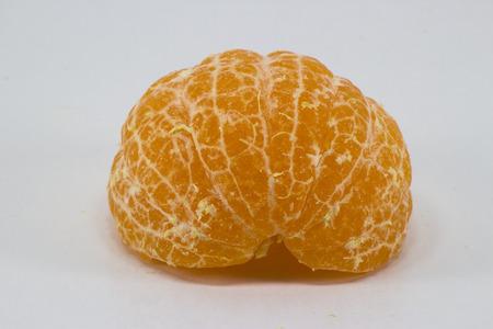 orange peel skin: peel skin of sainamphiong orange on white background Stock Photo