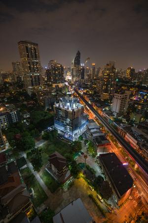 emporium: Bangkok city at night overlooking Sukhumvit road