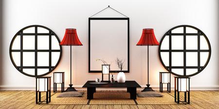 Room Design Japanese-style. 3D rendeirng