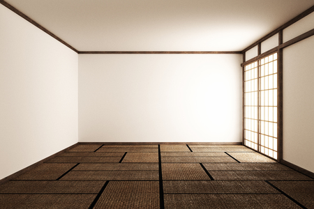 Empty room interior zen style. 3d rendering 写真素材