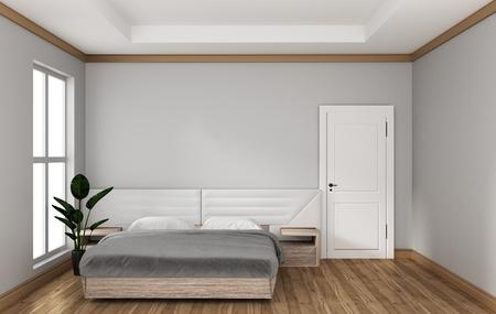 Empty room - modern bed room interior. 3D rendering 写真素材
