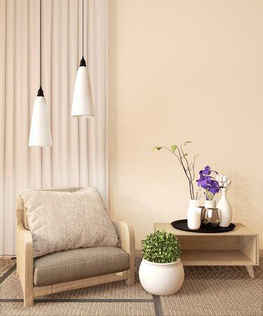 Ryokan room design very japanese style. 3D rendering Archivio Fotografico