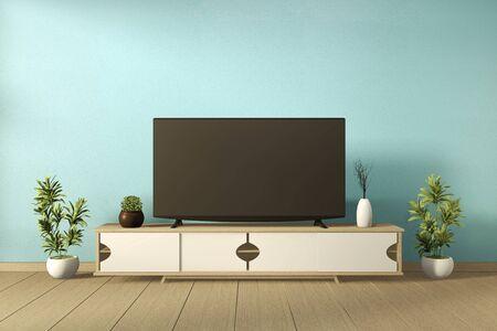 Mock up Mint modern style - empty room interior - minimal design. 3d rendering
