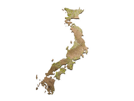 mock up Map Japan 3d map Realistic.3d rendering