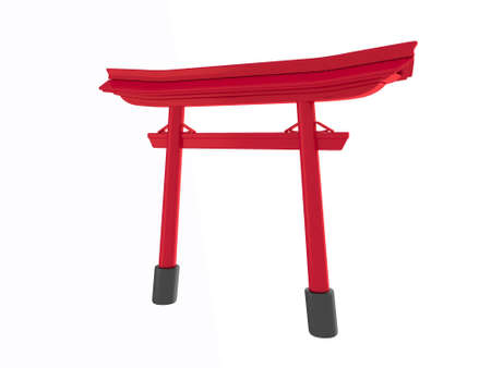 torii geometric podium Japanese tradition podium.3D rendering