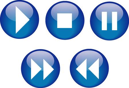Buttons CD Player Blue