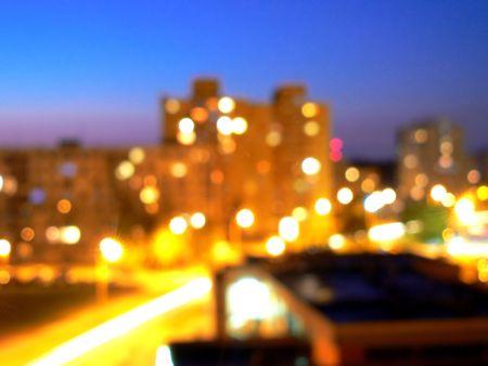 Housing estate in night