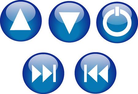 Buttons CD Player Blue Vector