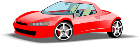 Snelle rode sportwagen Stock Illustratie