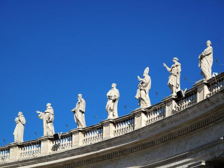 Statues in Vatican 스톡 콘텐츠
