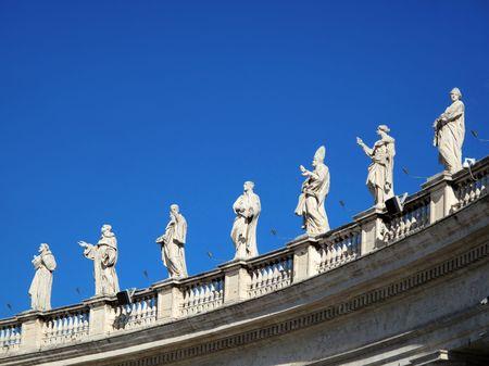 Beelden in het Vaticaan Stockfoto