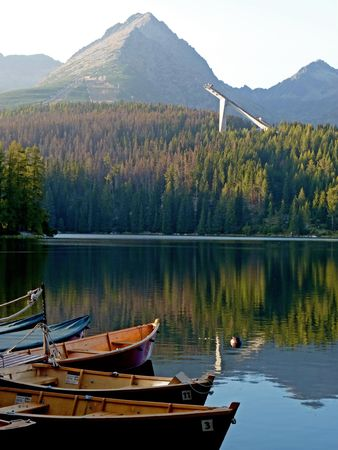 Harbour in The High Tatras near Strbske pleso  photo