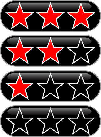 Stars rating button to rate the quality Stock Vector - 8091145