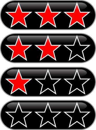 Sterren rating knop om te beoordelen van de kwaliteit
