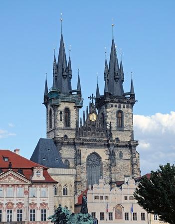 tyn: Tyn Church in Prague in Czech Republic
