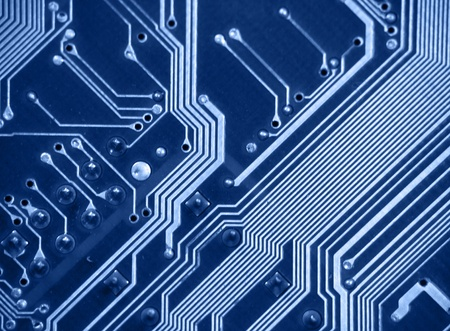 Detail of printed circuit board, old motherboard Stock Photo - 8591536